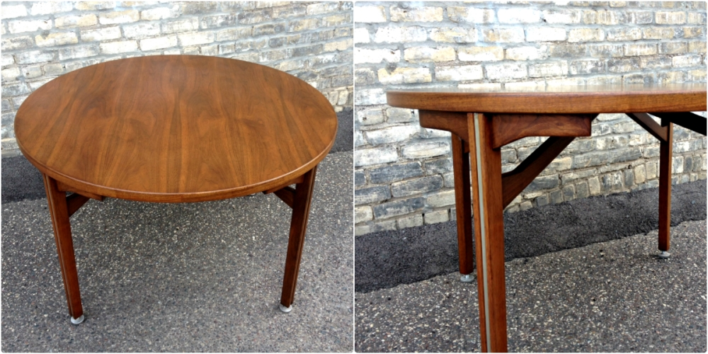 "Jens Risom Designs - 48"" round table - mid-century modern"