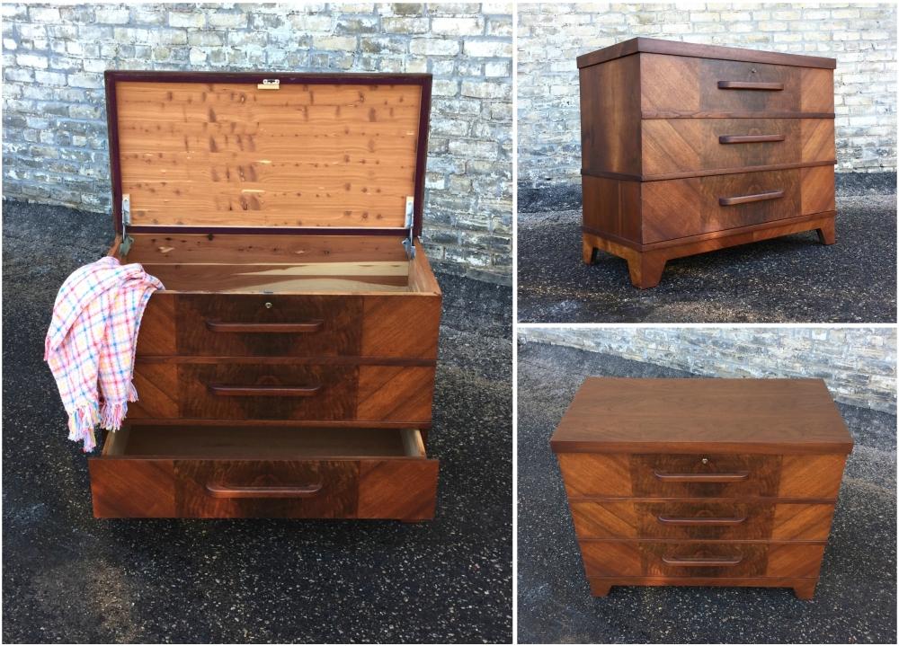 American Moderne - Streamline cedar chest