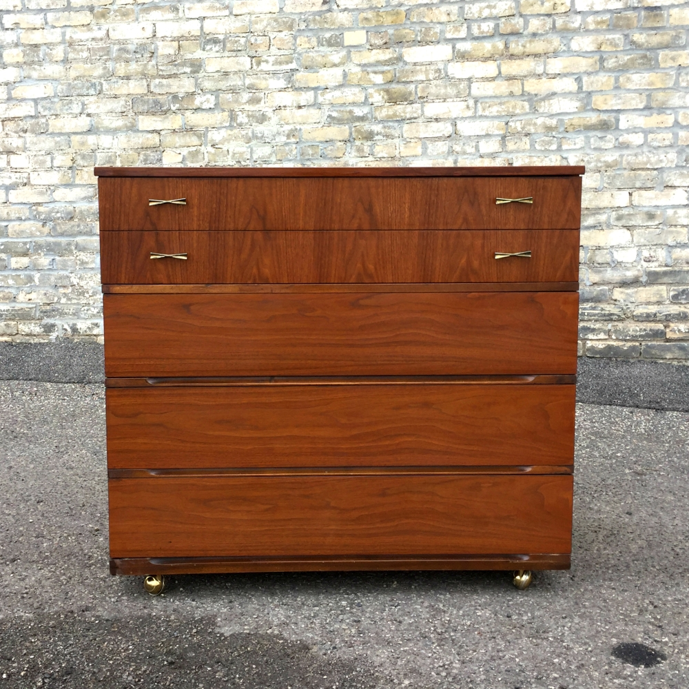 Mid-century chest of drawers - tallboy - walnut