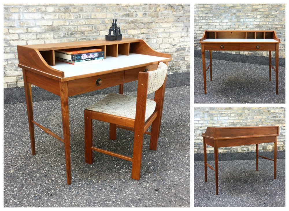Founders Furniture - mid-century desk - spinet desk - MidModMen+friends