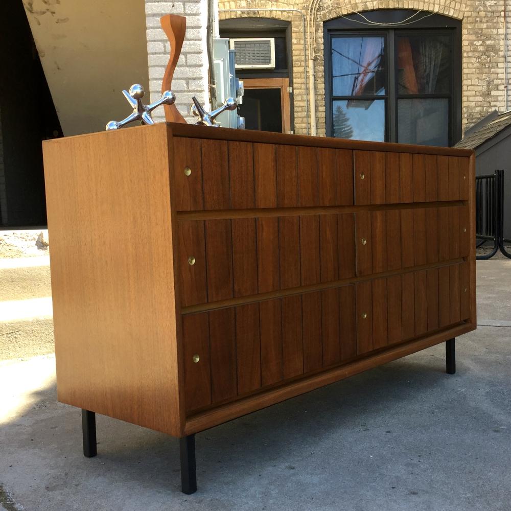 Restored walnut mid-century dresser