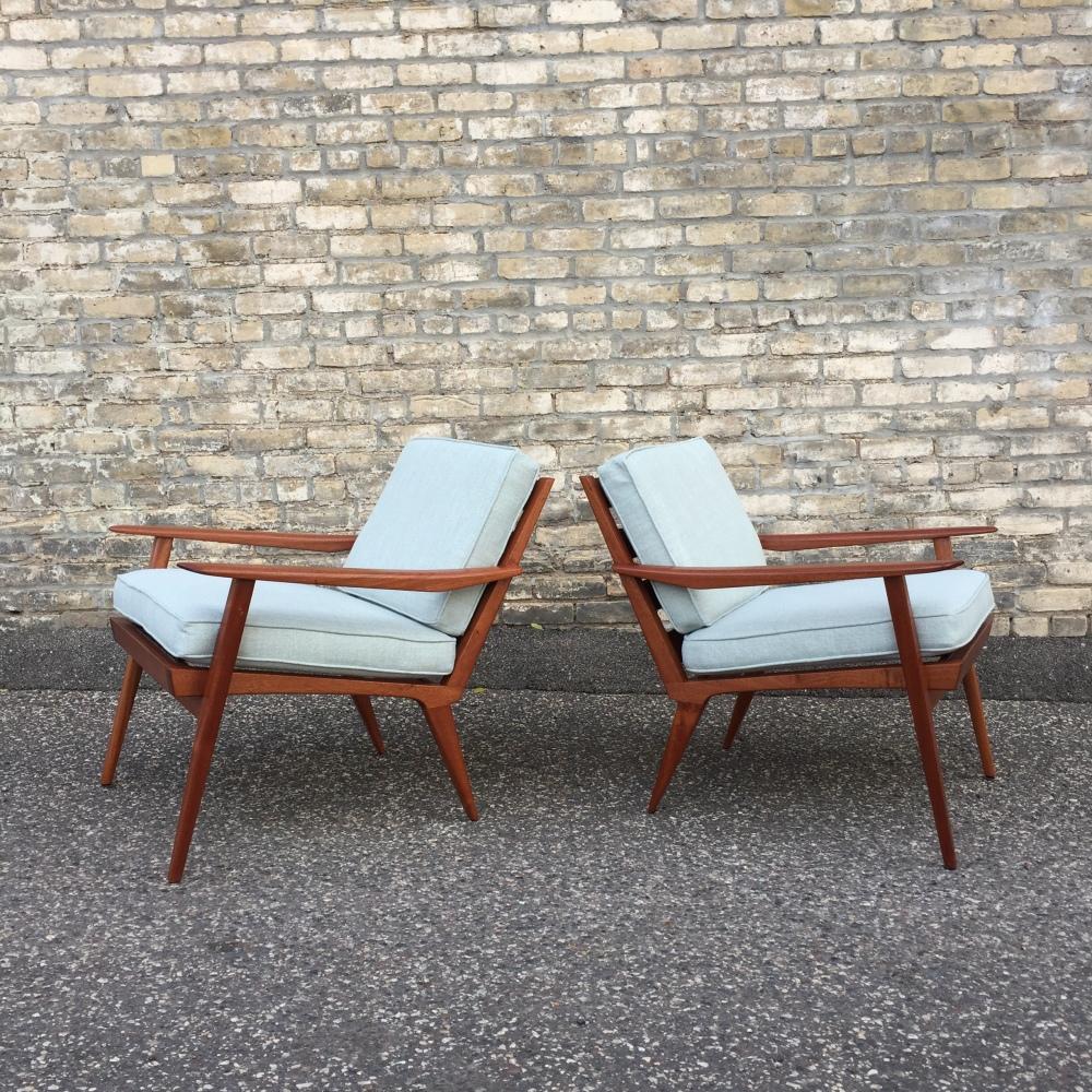 Made in Minnesota furniture - Danish mid-century style chairs - sapele wood