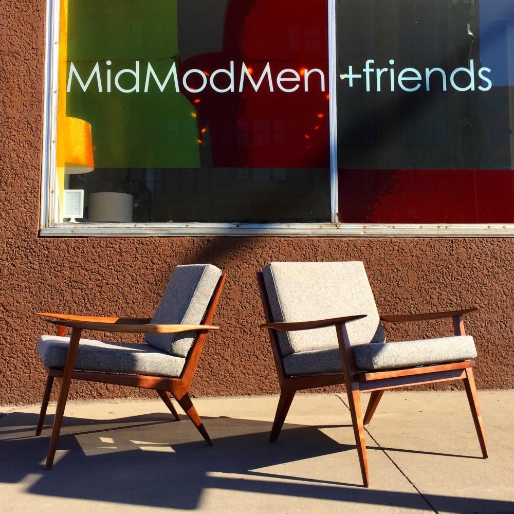 Made in Minnesota - mid-century walnut chairs - handmade - artisan