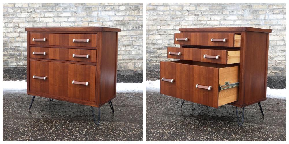 Mid-century three-drawer chest