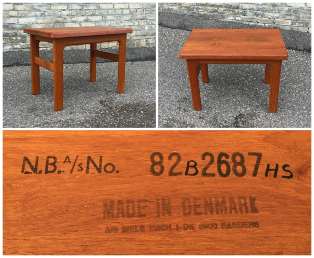 Niels Bach teak table - made in Denmark