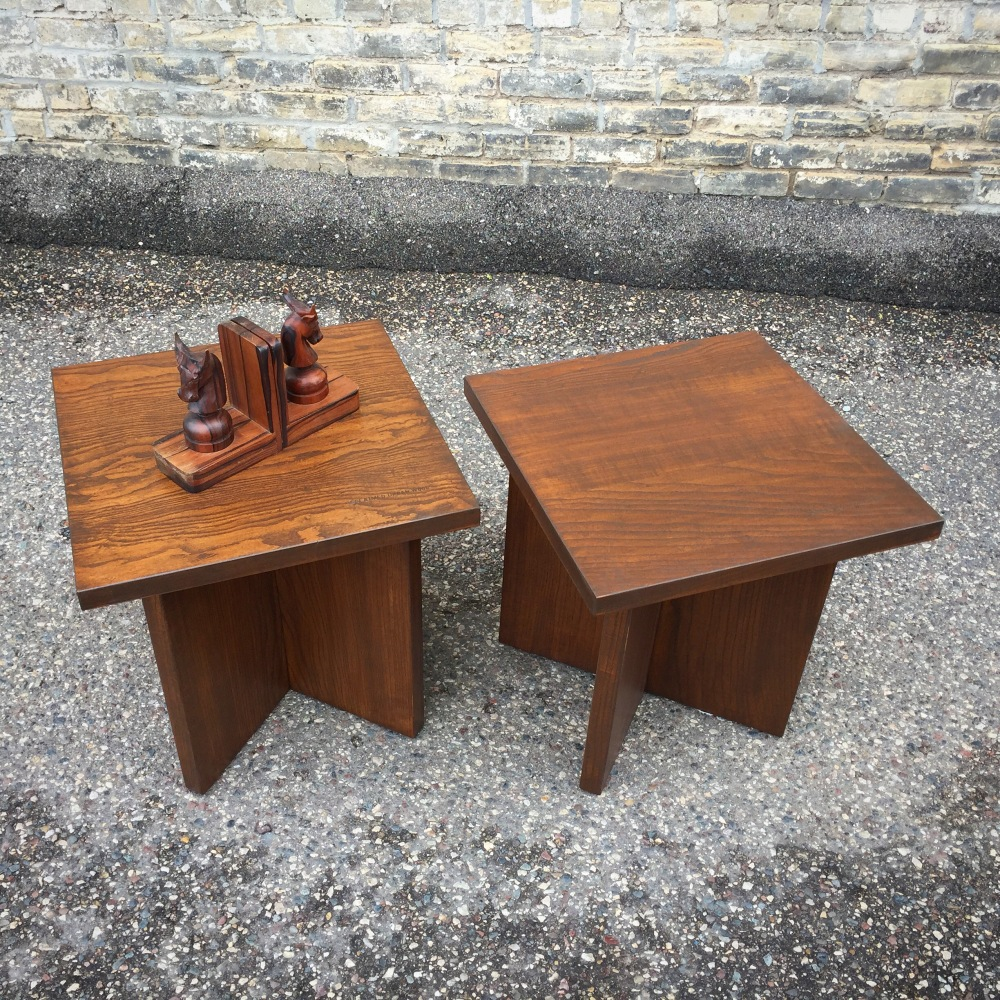 Reclaimed urban wood accent tables