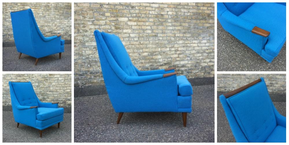 Mid-century furniture - Kroehler chair - Maharam Mode
