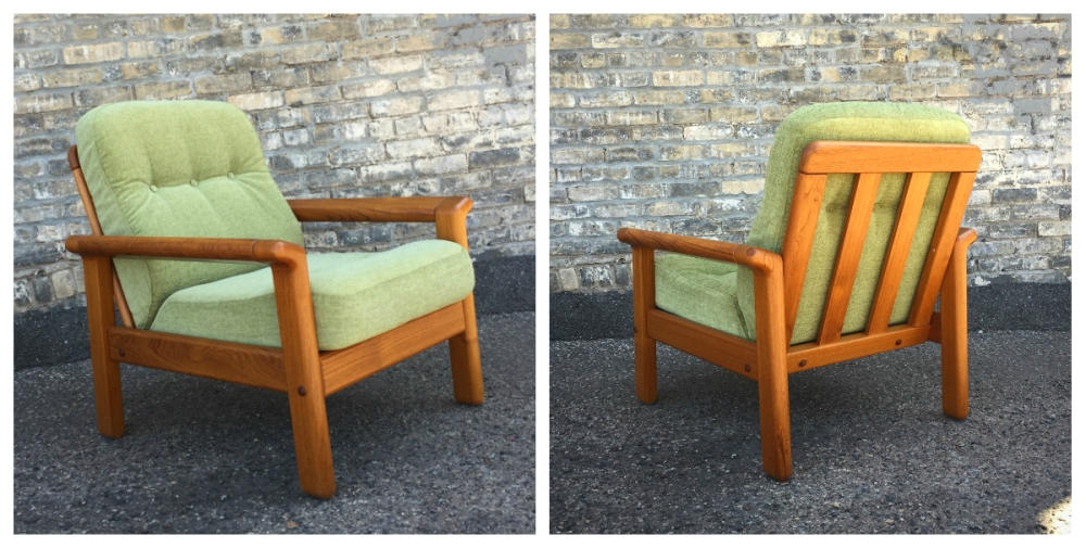 Danish modern chair - teak frame