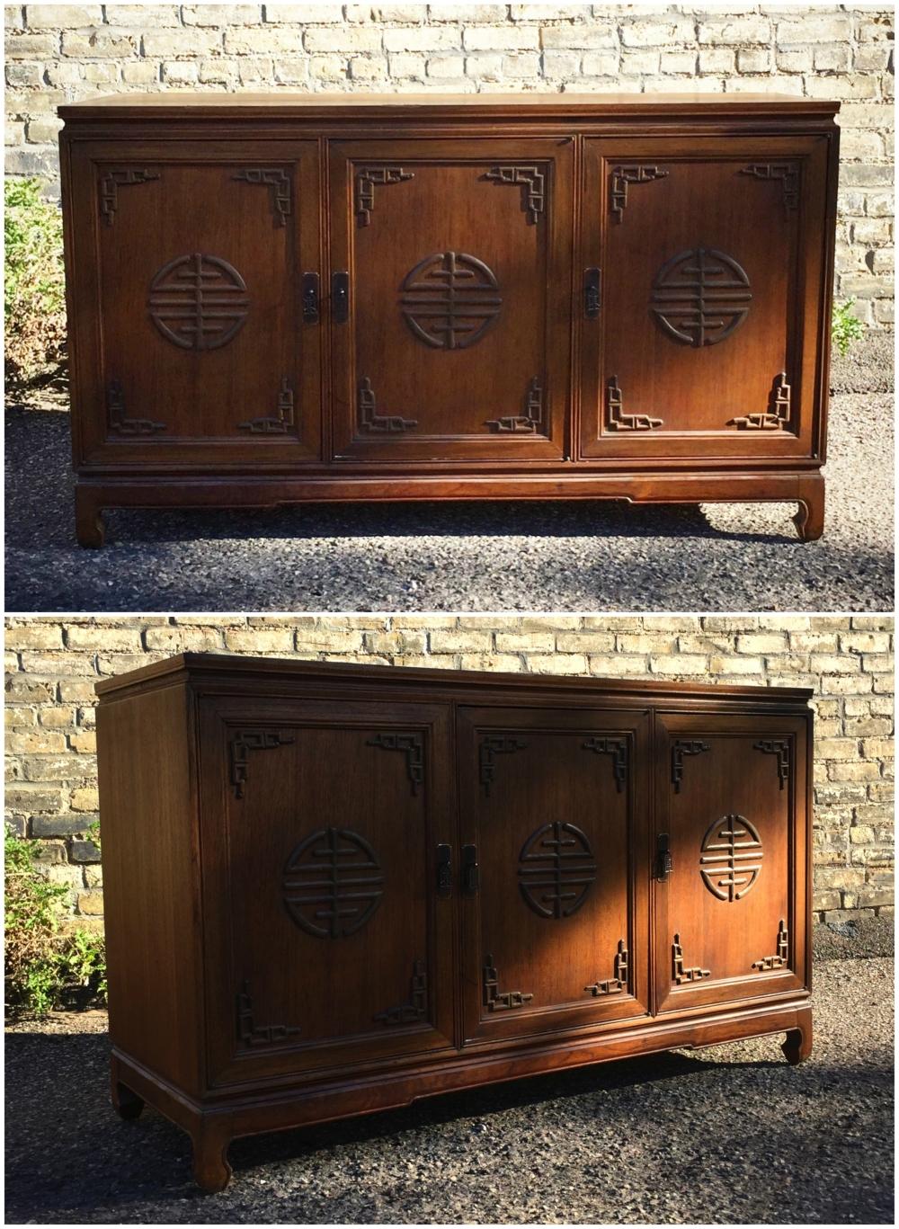 Asian style sideboard - credenza - vintage - antique