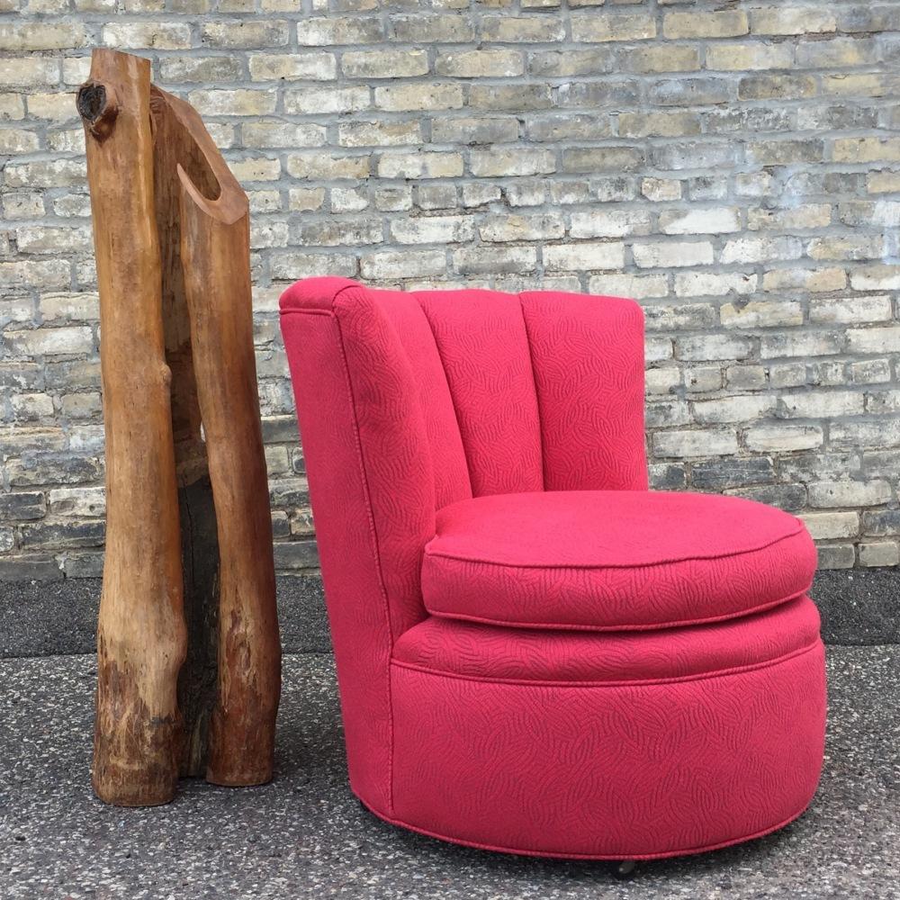 Barrel chair - channel back - retro chair