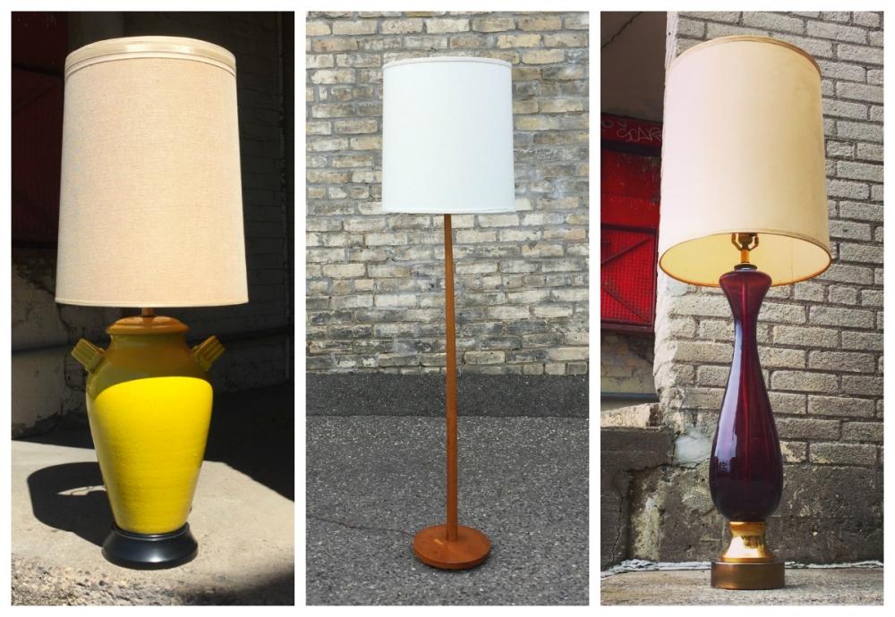 Mid-century modern lamps - lighting - MidModMen+friends - Minneapolis - St. Paul