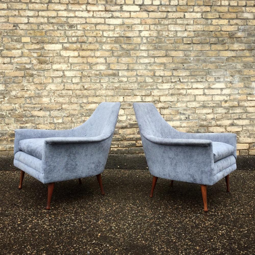 Flexsteel chairs - mid-century modern - upholstered chairs - St. Paul - Minneapolis - Minnesota