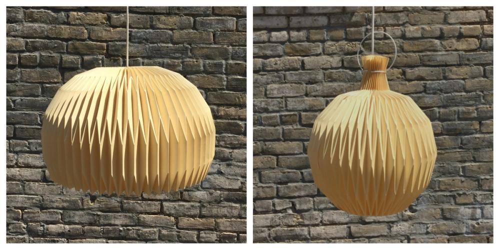 LE KLINT folded paper pendant shade - vintage - mid-century lighting