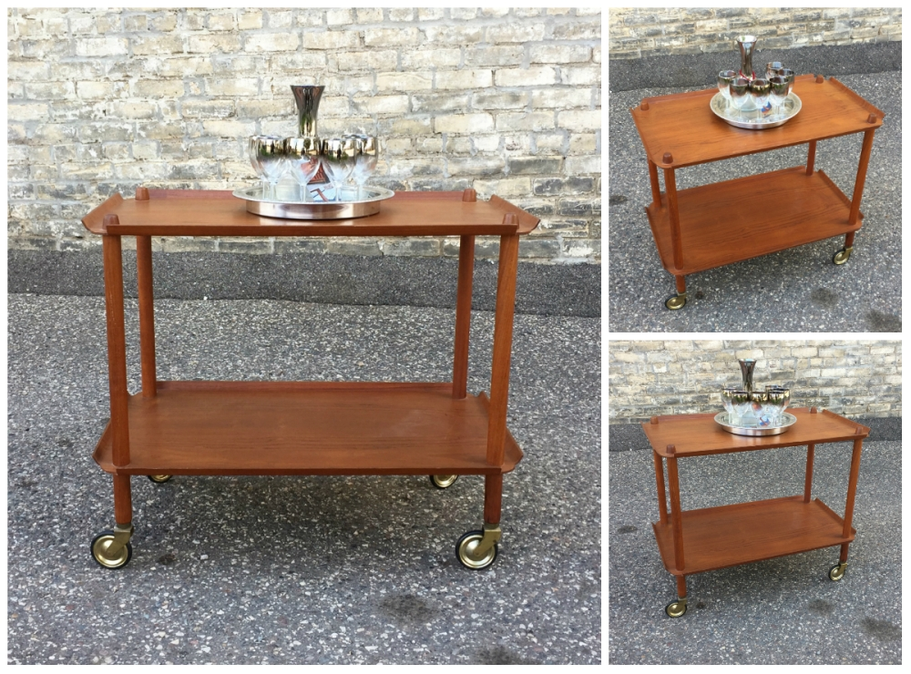 Danish Control - teak serving cart