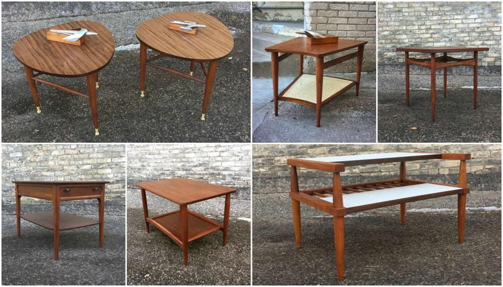 Mid-century modern accent tables