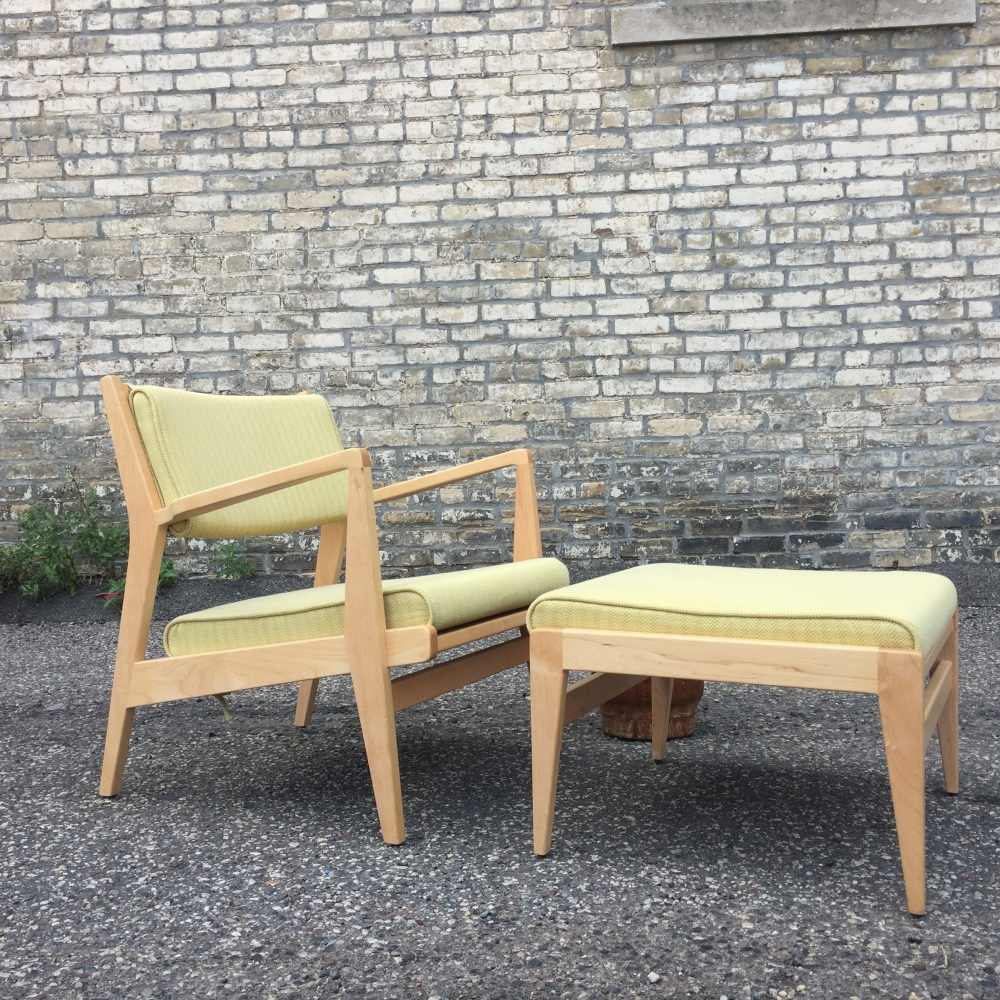 Jens Risom Caribe chair and ottoman - Design Within Reach