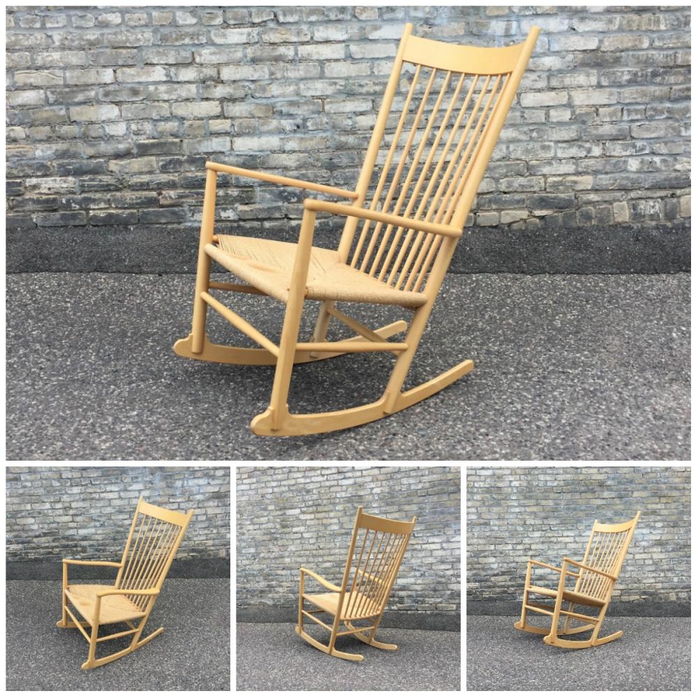Hans Wegner J16 rocking chair - Kvist Mobler