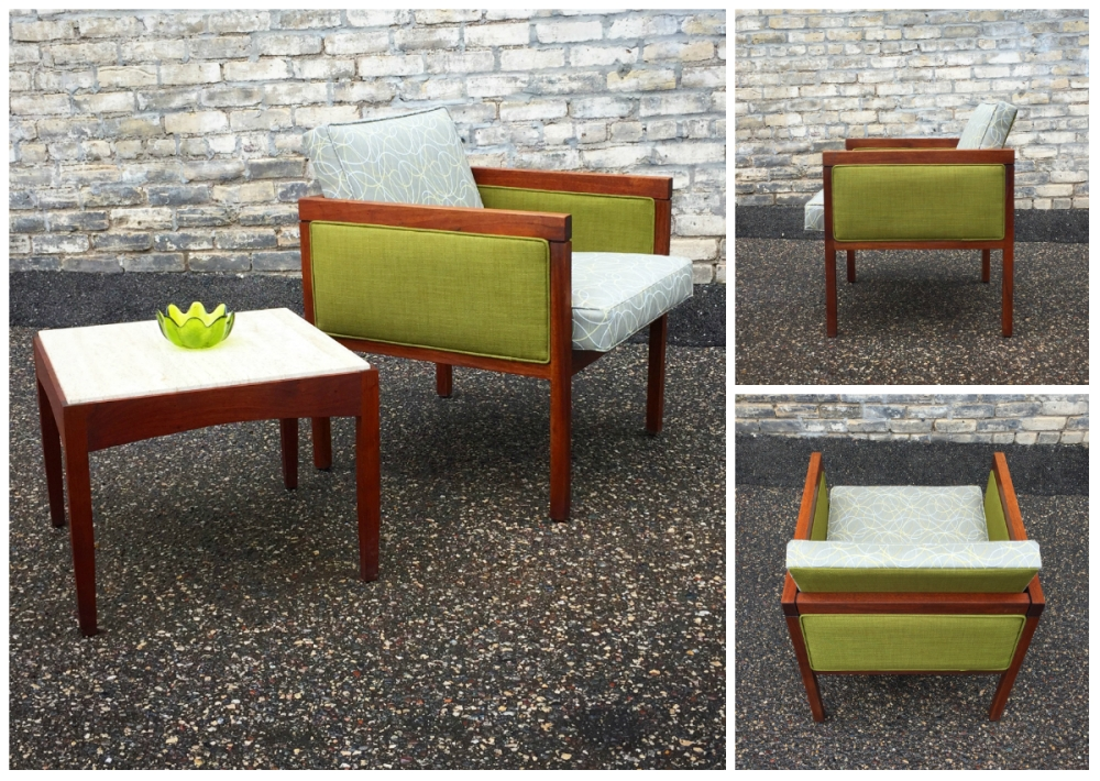 Mid-century cube chair - reupholstery - reuse - restore - modern furniture