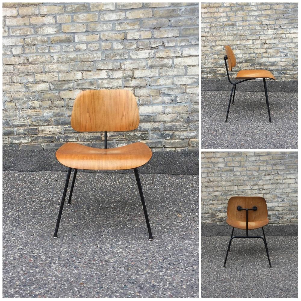 Original DCM chair - Eames Saarinen - Herman Miller - black frame