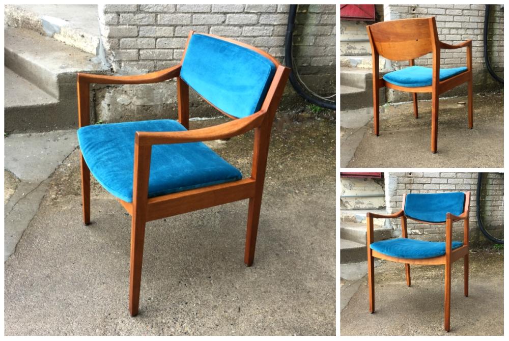 Gunlocke chair - restored - office chair - mid-century