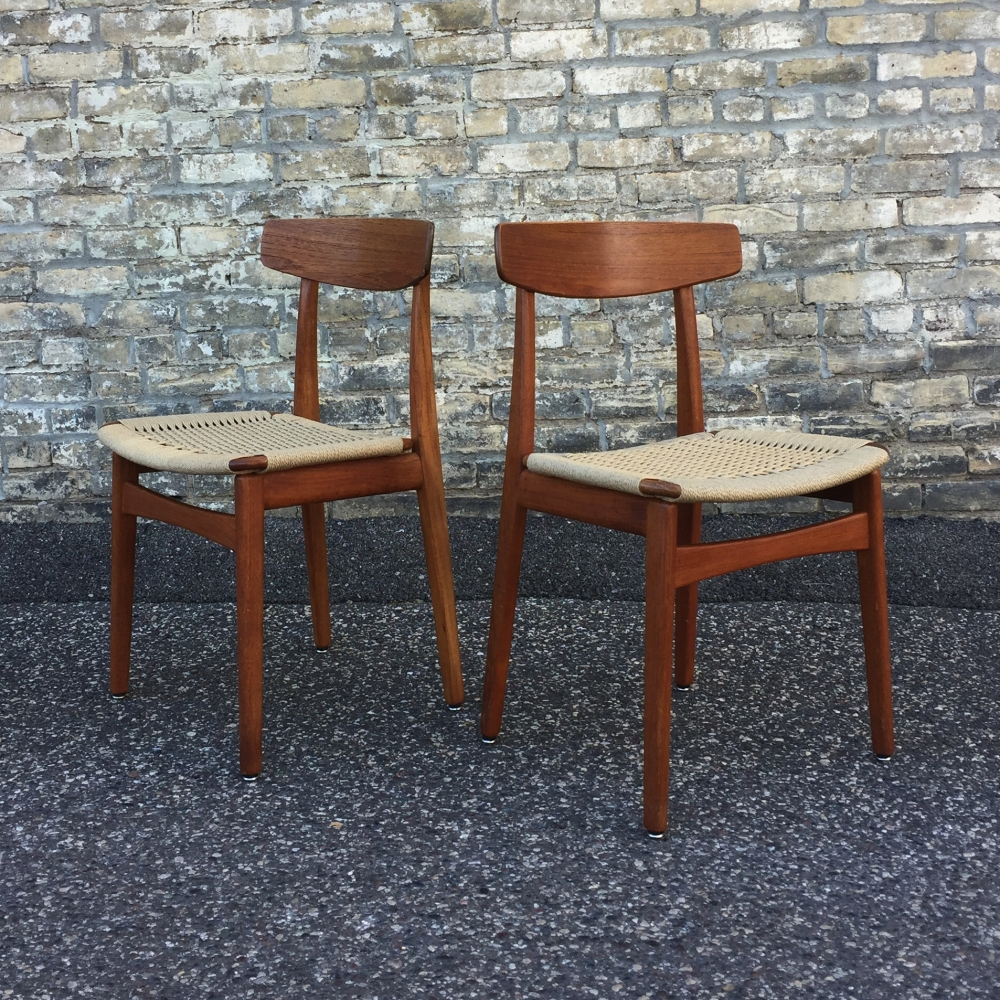 Henning Kjaernulf for Bruno Hansen Dining Chairs