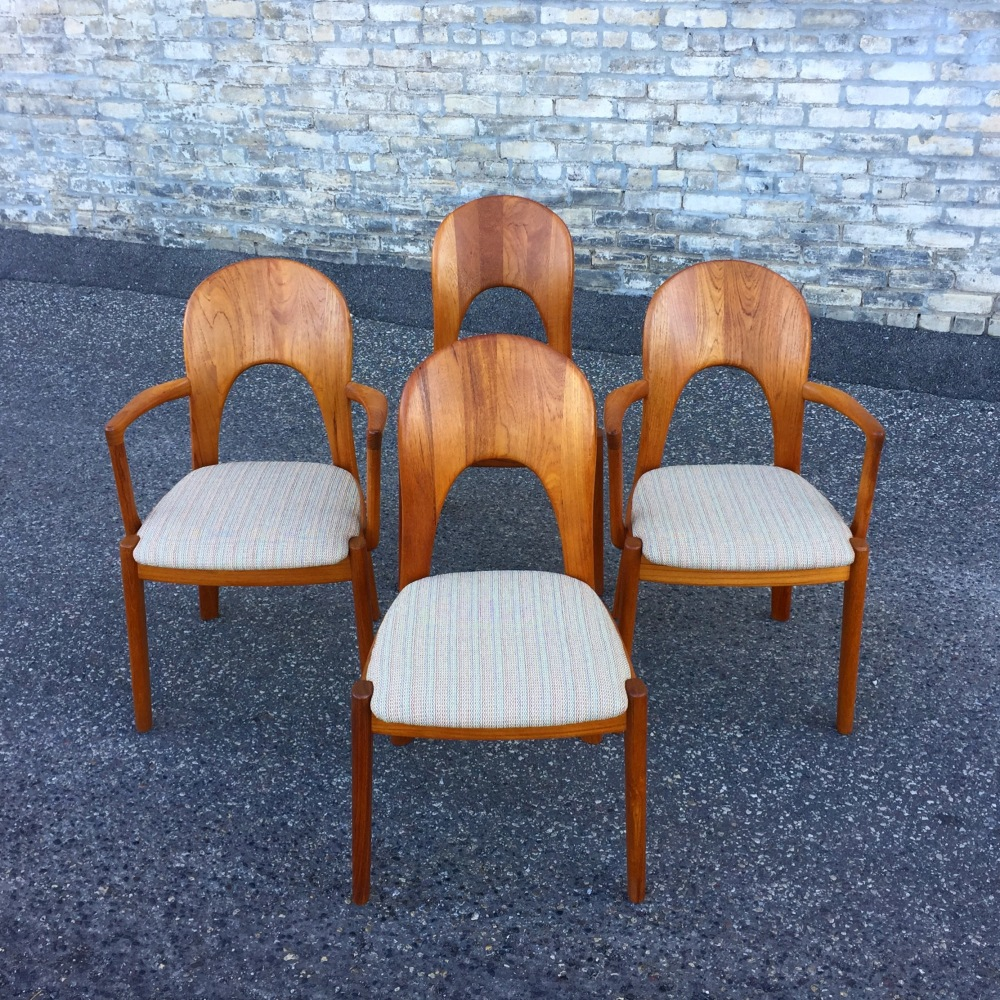 Koefed Danmark teak dining chairs - set of four