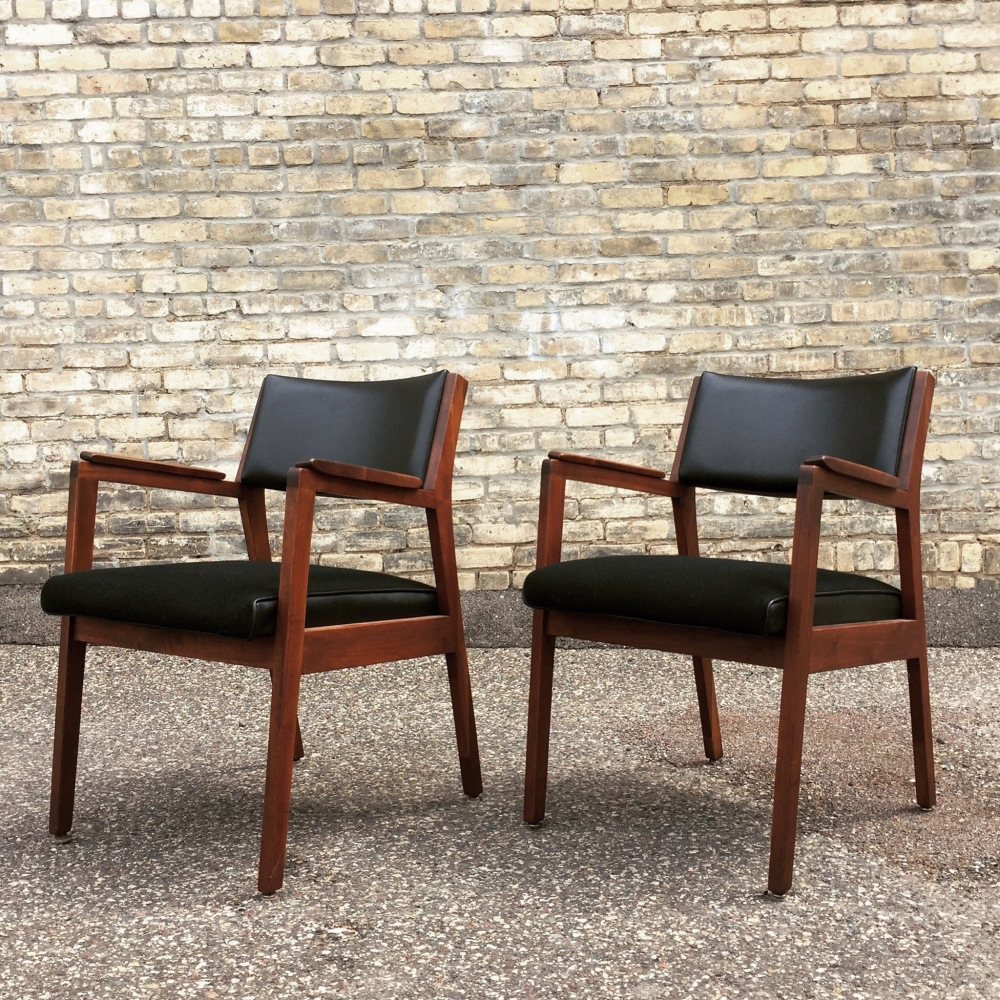 Alma Chair Company - walnut and leather chairs - mid-century chairs