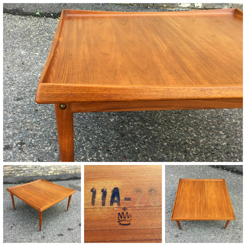 Moreddi square teak coffee table - stamped Danmark (Denmark)