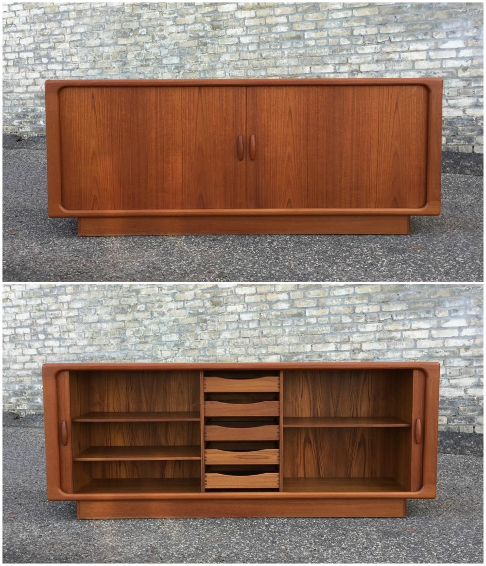 Dyrlund (Denmark) teak credenza - sideboard - tambour doors