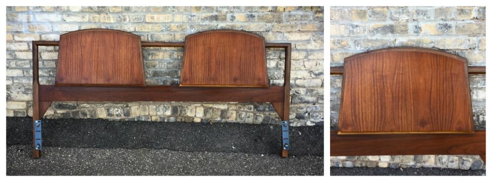 Mid-century modern headboard - walnut - Lane Furniture - king size