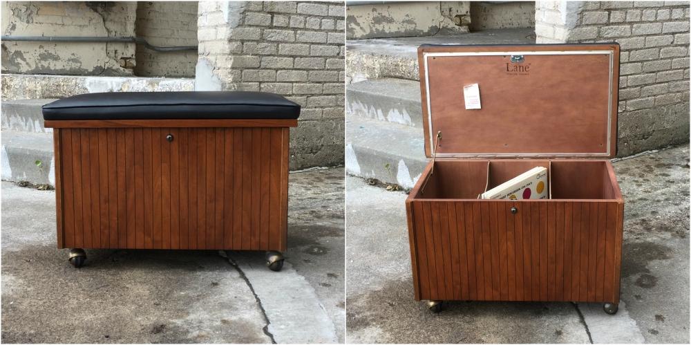 Lane Furniture record storage bench