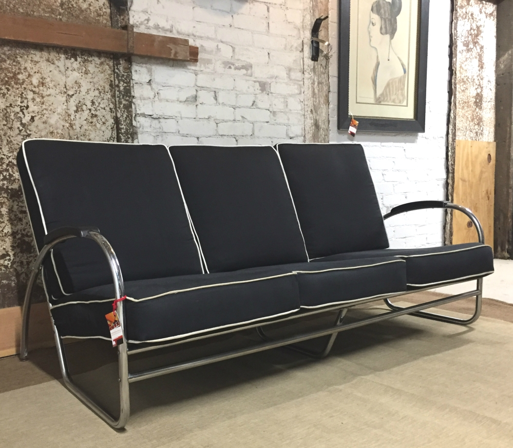Royal Metal Manufacturing - Royalchrome sofa - American Moderne