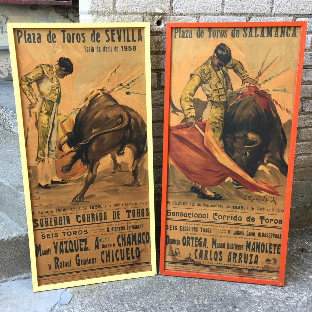 Authentic Spanish bullfighting poster - vintage