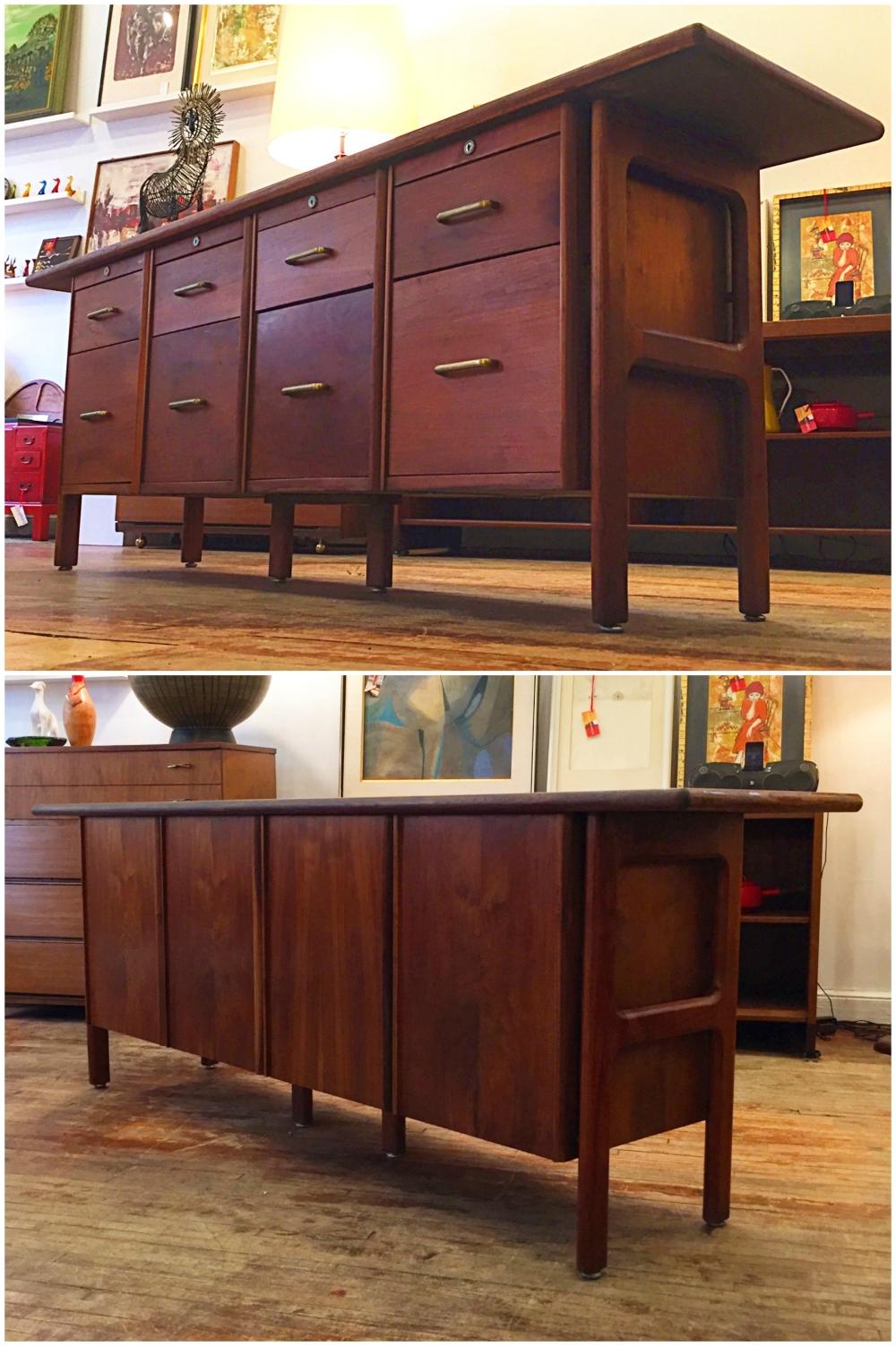 Standard Furniture walnut credenza - mid-century modern design
