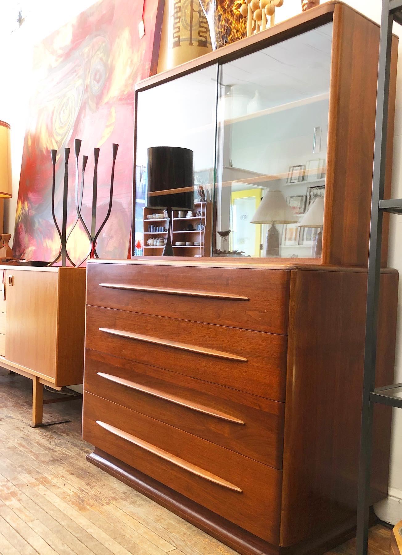 Bissman Furniture solid walnut china hutch