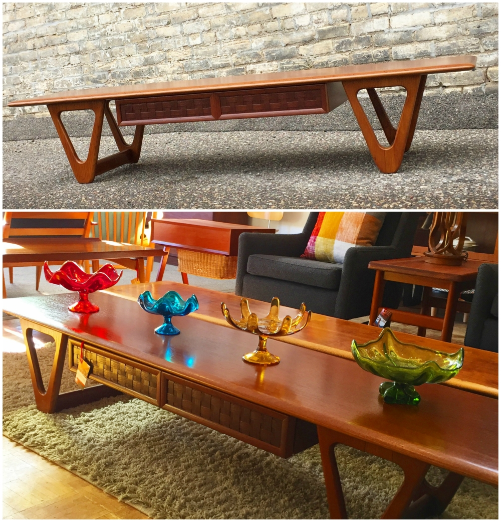 Lane Perception coffee table - 70 inches long