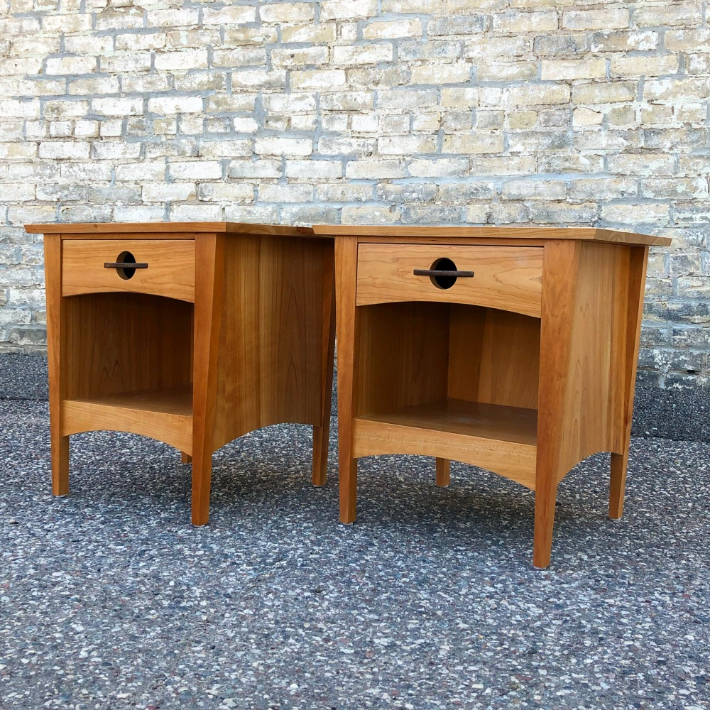 Solid cherry nightstands made in Minnesota