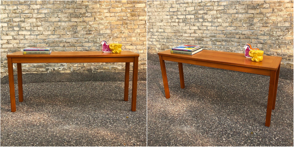 Danish teak console table