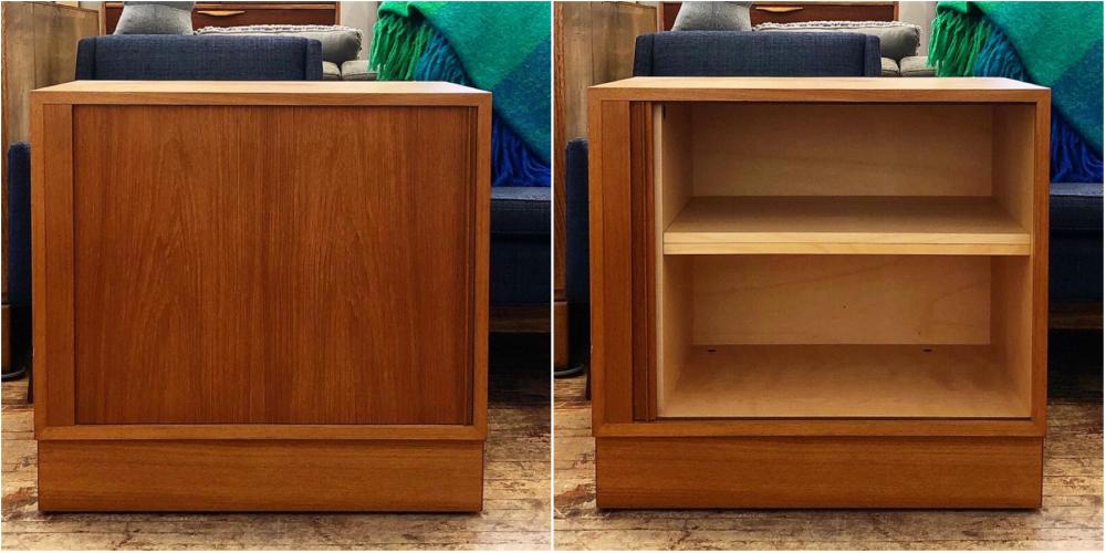 Poul Hundevad teak cabinet - tambour doors