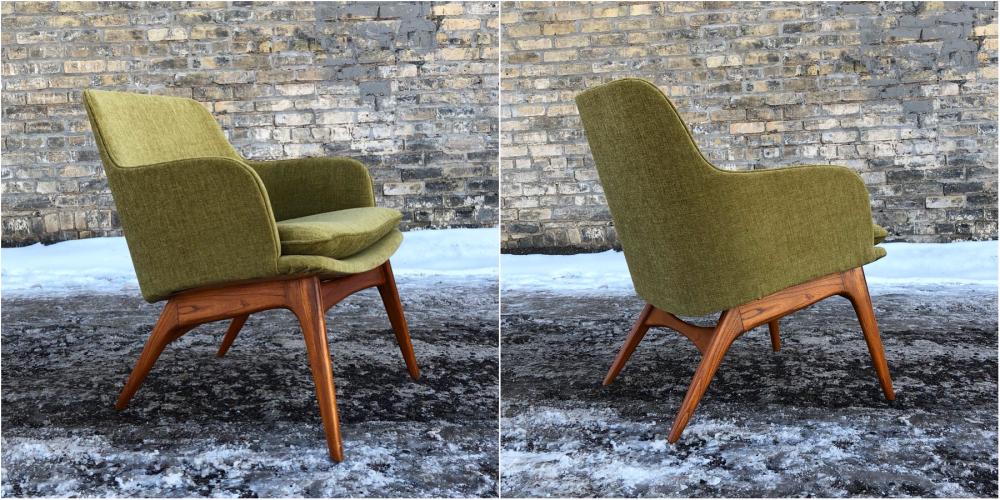 Monarch Furniture mid-century bucket chair