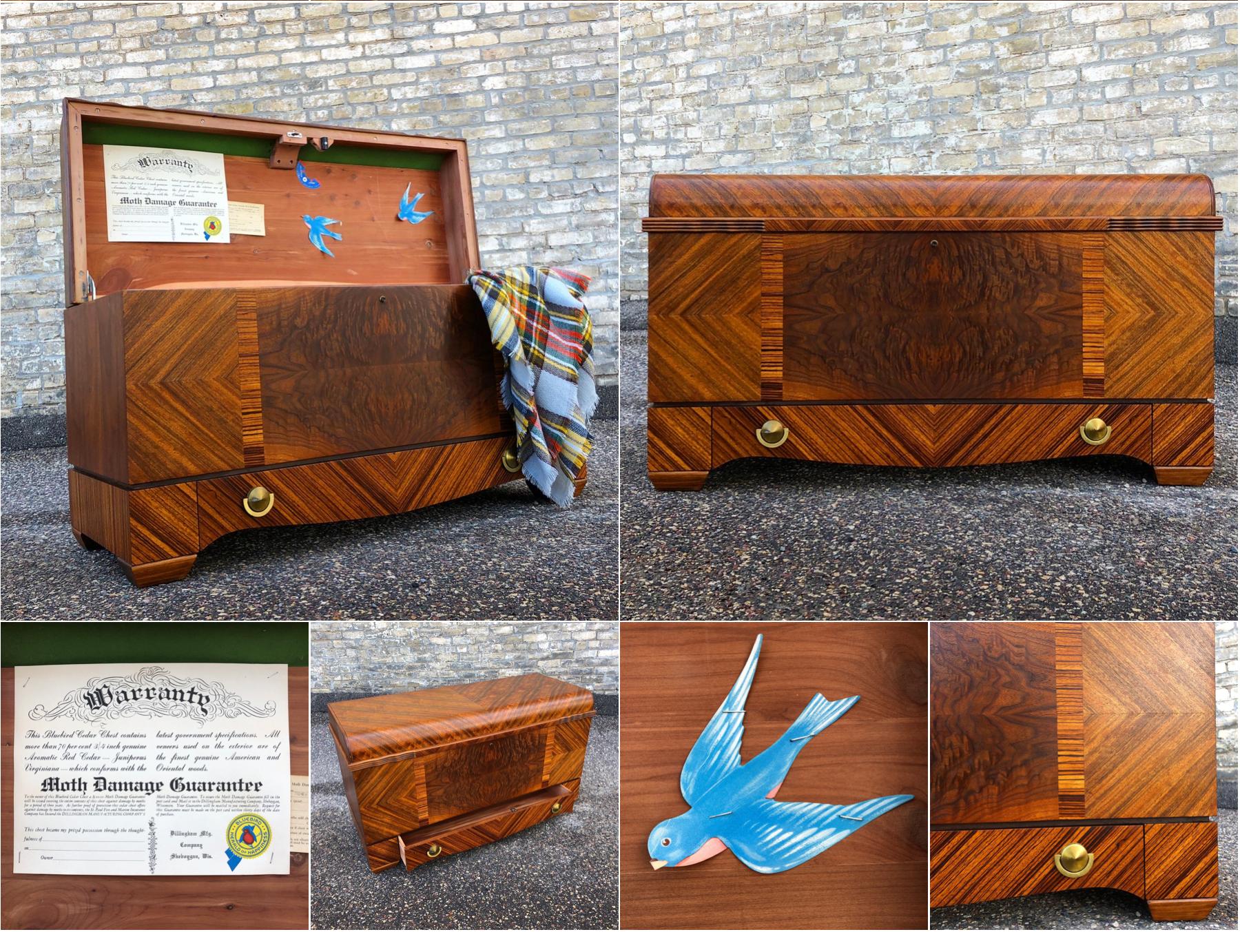 Dillingham Bluebird cedar chest – rosewood and walnut