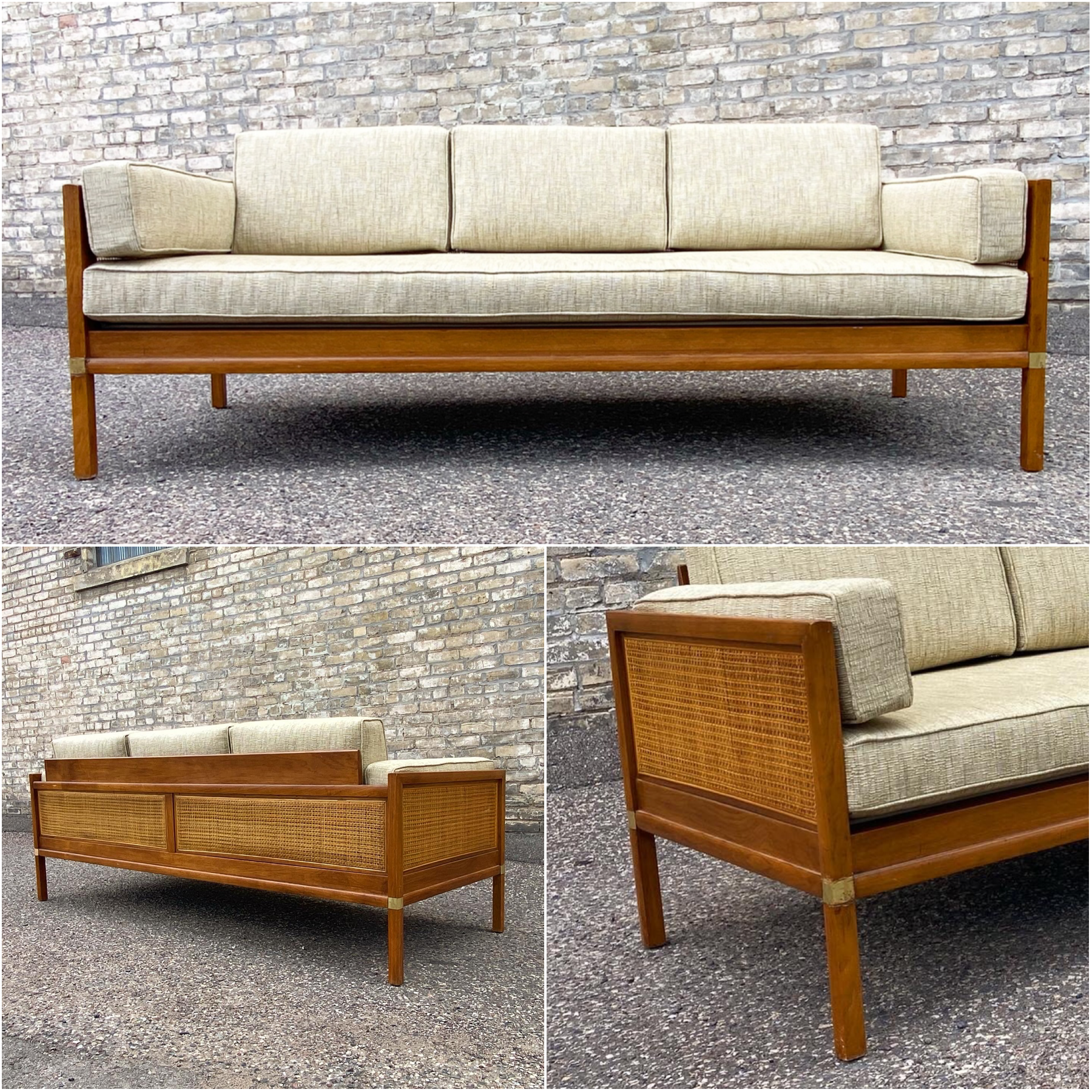 Modern campaign style sofa - daybed