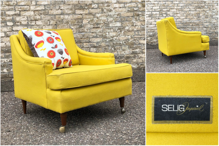 Selig Imperial easy chair - reupholstered