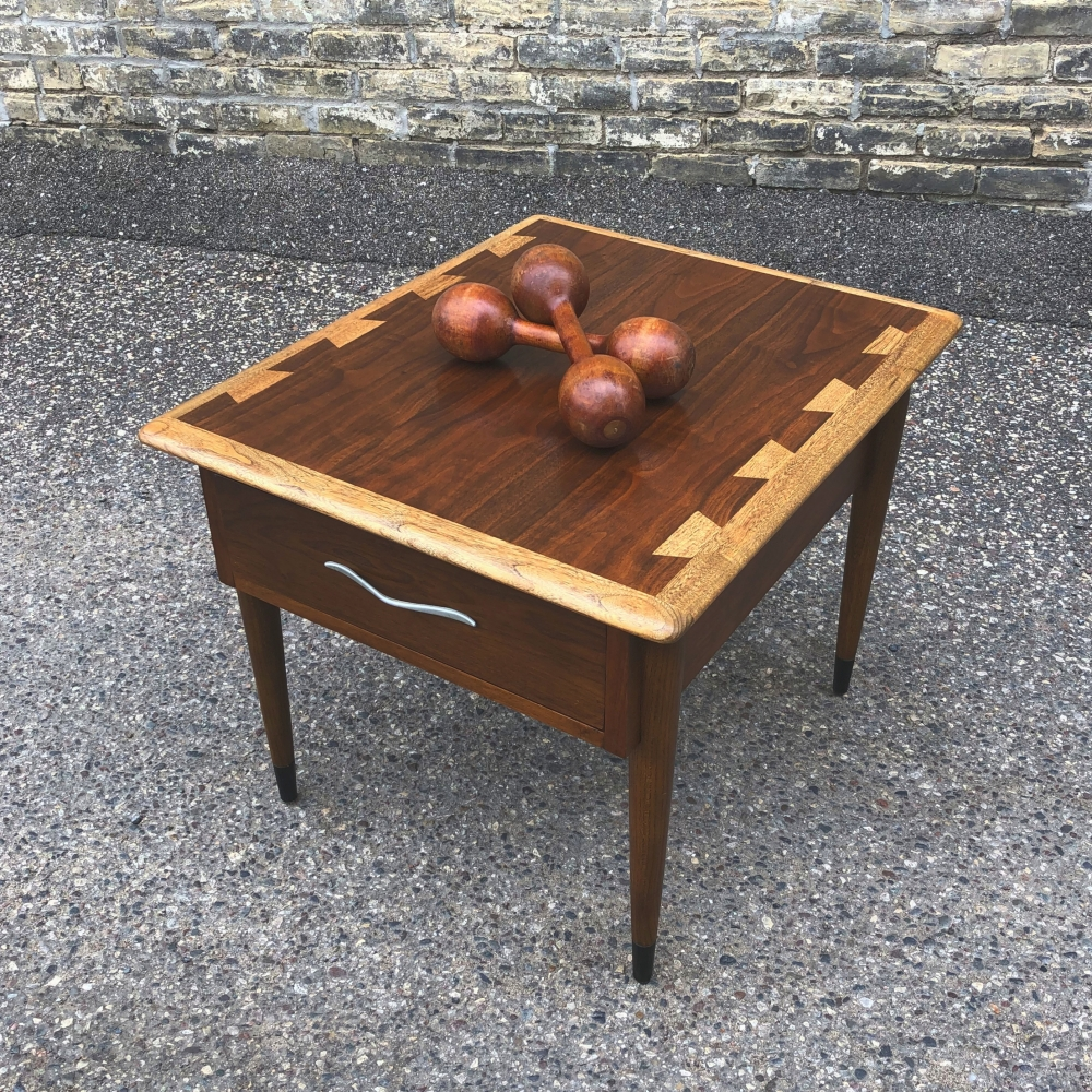 Lane Acclaim end table with drawer - restored