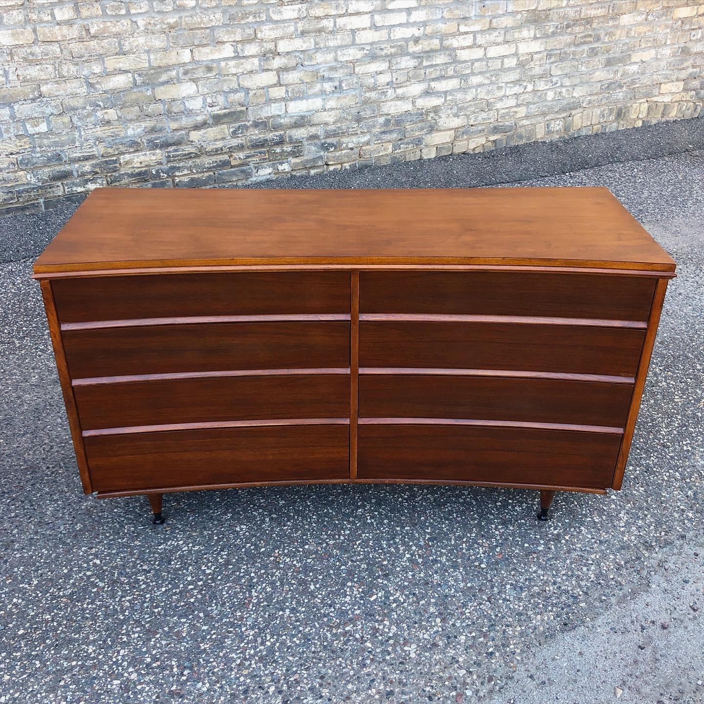 Mid-century dresser - curved drawer fronts