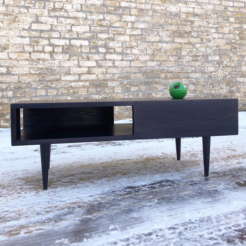 Handmade in Minnesota media bench-coffee table