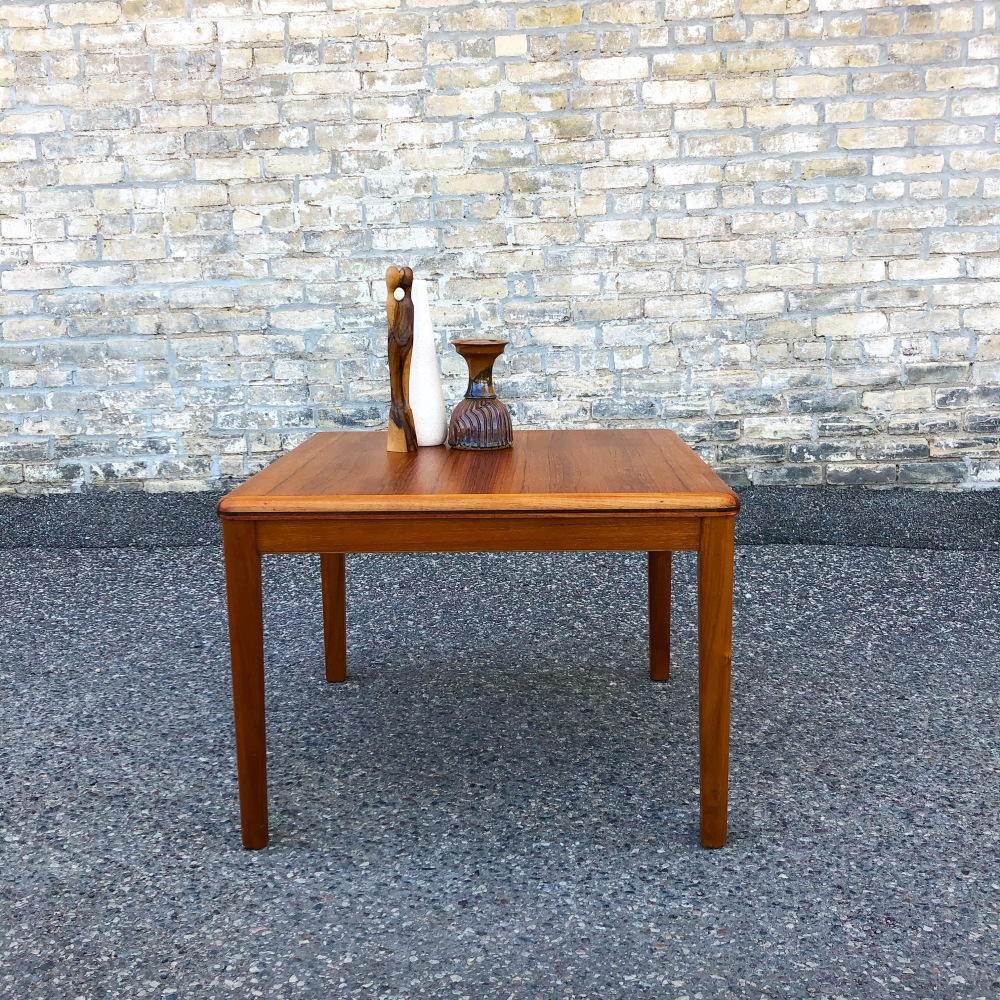 Square Danish teak coffee - accent table