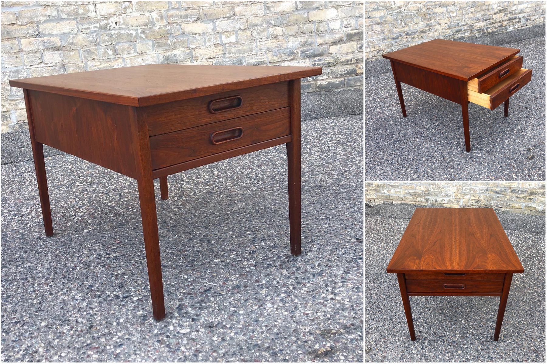 Jack Cartwright for Founders two-drawer accent table