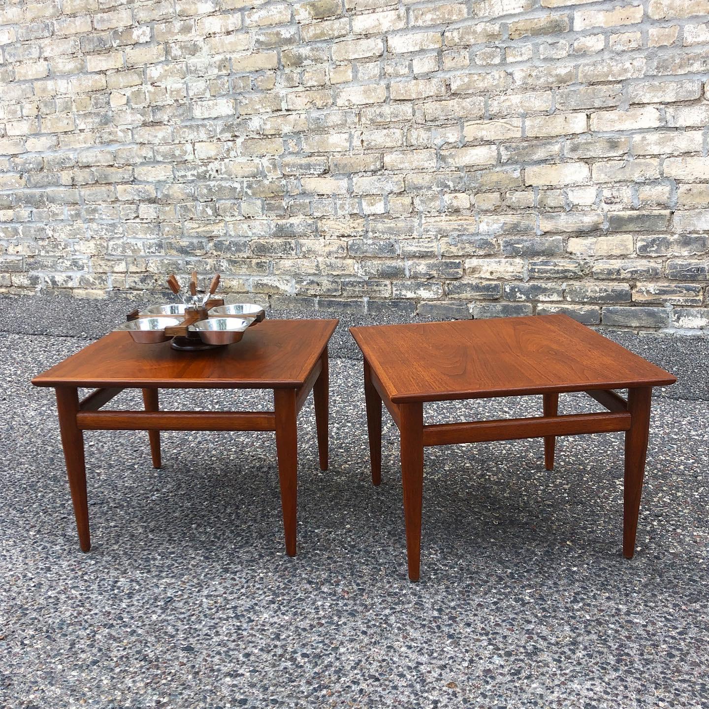 Henredon Furniture - Heritage walnut accent tables