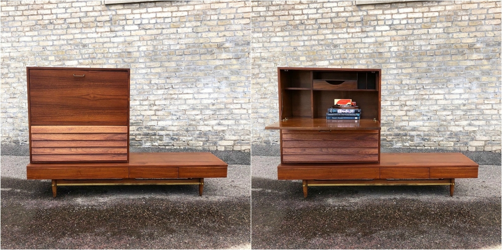 American of Martinsville Dania Collection modular bench-desk